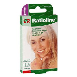 Ratioline Protect Gelpleister Groot 4  pleisters