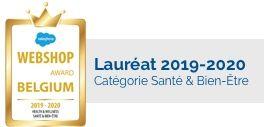 Laueréat Webshop Awards Belgium 2019-2020 dans la catégorie Santé & Bien-Être