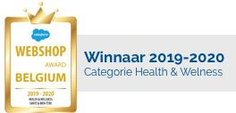 Winnaar Webshop Awards Belgium 2019-2020 in de categorie Health & Wellness
