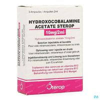 Sterop Hydroxocobalamine 10mg/2ml 3  ampoules