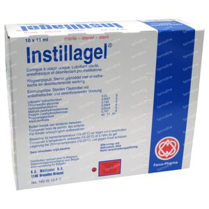 Instillagel Spuitampullen 10 x 11 ml ampoules