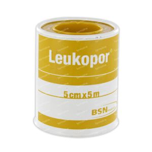Leukopor Kleefpleister 5cm x 5m 1 stuk