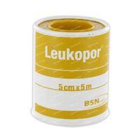 Leukopor® Sparadrap 5 m x 5 cm 02474-00 1 pièce