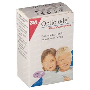 3M Opticlude Pansement Orthoptique Senior 8,2cm X 5,7cm 153920 20 pièces