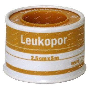 Leukopor Kleefpleister 2472 2.5cm X 5m 1 stuk