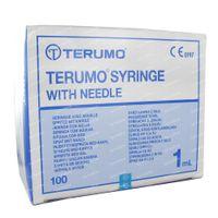 Image of Terumo Wegwerpspuit Met Naald 1ml 26g 1/2 100 spuiten