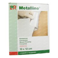 Metalline Steriel Kompres 10 x 12cm 23084 10 st