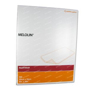 Melolin Steriel Kompres 10 x 20cm 66974939 100 St