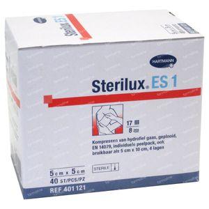 Hartmann Sterilux ES KP Stériles 8PL 5cm x 5cm 40 pièces