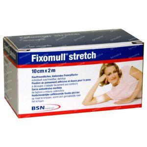 Fixomull Stretch ADH 10cm x 2m 1 stuk