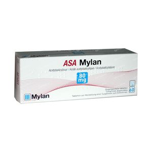 Asa Mylan 80mg 60 tabletten