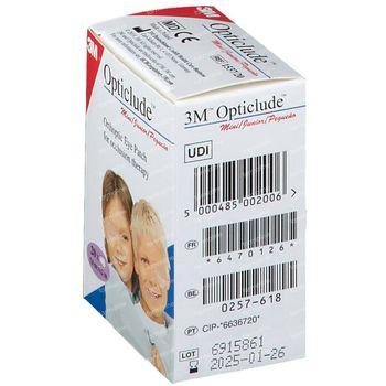 3M Opticlude Pansement Orthoptique Junior 6,3cm X 4,8cm 153720 20 pièces