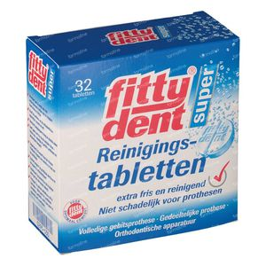 Fittydent Cleanser 32 St comprimidos