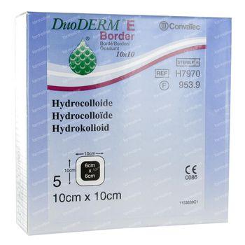 Convatec Duoderm E Bord Adh 10X10Cm H7970 5 pièces