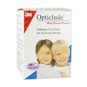 3M Opticlude Oogpleister Junior 63mm x 48mm 50 St