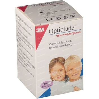 3M Opticlude Pansement Orthoptique Senior 8,2cm X 5,7cm 153950 50 pièces