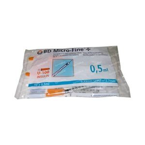 BD Microfine+ Insuline Spuit 0.5ml 29g 12.7mm 10 stuks
