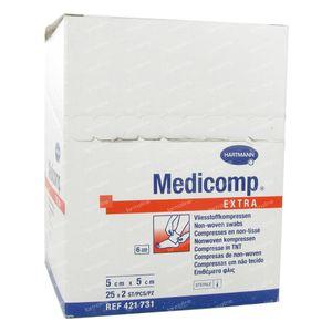 Hartmann Medicomp Steriel Kompres 6 Lagen 5 x 5cm 421731 50 St