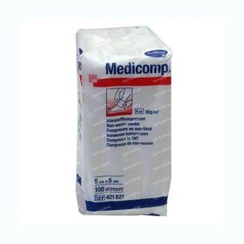 Hartmann Medicomp Kompres 4 Lagen 5 x 5cm 421821 100 st