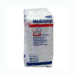 Hartmann Medicomp Compres 4 Layers 5 x 5cm 421721 100 pieces
