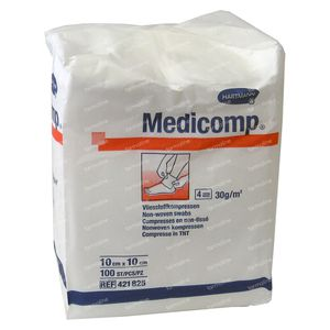 Hartmann Medicomp Compres 4 Layers 10 x 10cm 421825 100 pieces