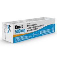 Cacit 500mg - Calciumsupplement bij Osteoporose 20  bruistabletten
