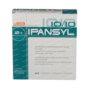 Ipansyl Compress Sterile 8 Layers10 x 10Cm 12 pieces