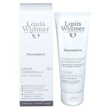 Louis Widmer Remederm Lichaamscrème Zonder Parfum 75 ml