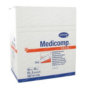 Hartmann Medicomp Drain Steriel Kompres 6 Lagen 10 x 10cm 421535 50 St