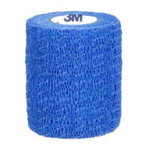 3M Coban Elastische Zwachtel Steriel Blauw 7,5cmX4,57m 1 stuk