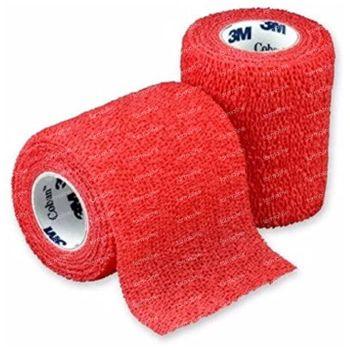 3M Coban Bandage Elastique Rouge 7,5cmx4,57m 1 st