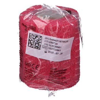 3M Coban Elastische Zwachtel Rood 7,5cmx4,57m 1 stuk