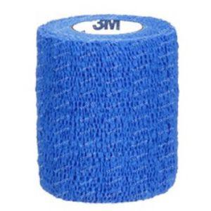 3M Coban Elastische Zwachtel Blauw 10cmx4,57m 1 stuk