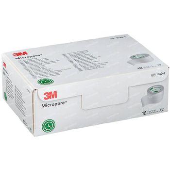 3M Micropore Chirurgische Heftpflaster 9,1m x 25mm 1530-1 12 st