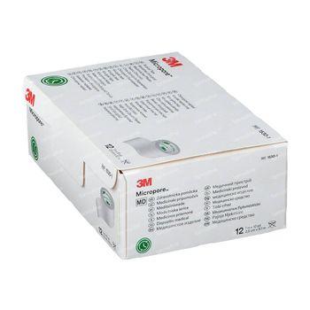 3M Micropore Medische Hechtpleister 2.5cm x 9.14m 1530-1 12 stuks