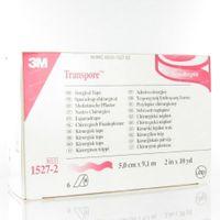 3M Transpore Surgical Tape 5cm x 9,15m 1527-2 6 st