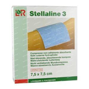 Stellaline 3 Steriel Kompres 7,5X 7,5cm 12 stuks