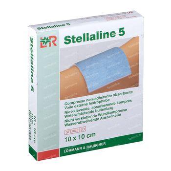 Lohmann & Rauscher Stellaline 5 Compresses Non-Adhérente Absorbante Sterile 10x10cm 10 pièces