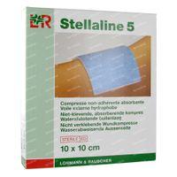 Lohmann & Rauscher Stellaline 5 Niet-Klevende Absorberende Kompressen Steriel 10x10cm 10 stuks