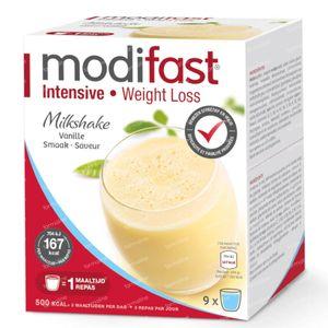 Modifast Intensive Milkshake Vanille 9x47 g zakjes