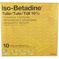 iso-Betadine Tule 10  kompressen
