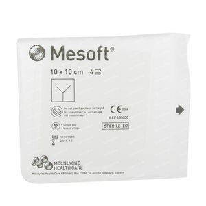 Mesoft Splitcompresses Sterile 10cm x 10cm 1 pieza