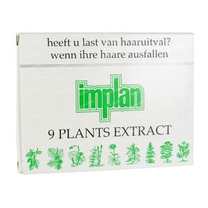 Implan Classic 9 Plants Extract Hair Loss Ampoules 4 ampoules