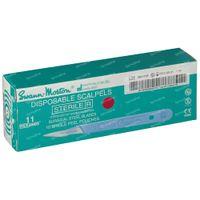 Scalpel Stérile Jetable N° 11 10 st