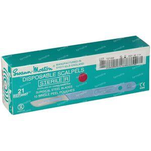 Swann Morton Scalpel Sterile Nr 21 10 St