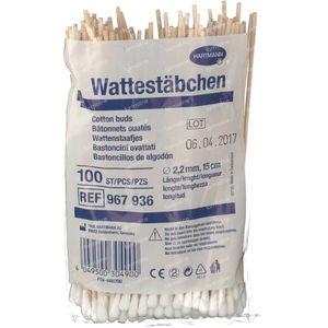 Hartmann Wattenstaaf 15cm 100 stuks