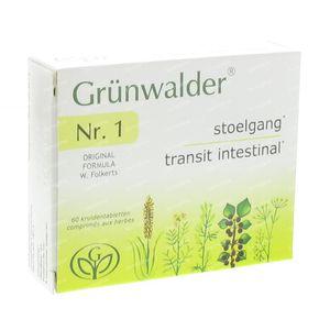 Grunwalder Nr1 Natuurlijke Stoelgang 60 St tabletten