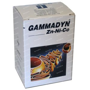 Unda Gammadyn ZN NI CO 30 ampoules