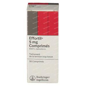 Effortil 5mg 50 tabletten