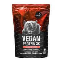 nu3 Vegan Protein 3K Aardbei 1 kg poeder